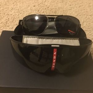 03c4ae2eb182 Brand New Prada Sport Linea Rossa Sunglasses